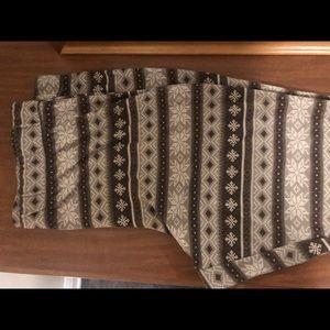 Tan and brown winter leggings